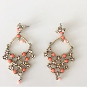 J. Crew Beaded Floral Chandelier Earrings